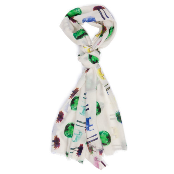 Moroccan Paradise Emeralds scarf by Yazi
