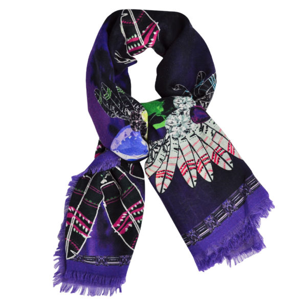 Red Indian Purple scarf by yazi
