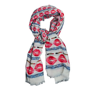 Red Lips and Diamonds Scarf by Yazi